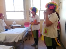 Actividades lúdicas en el Hospital Regional (estudiantes enfermería)