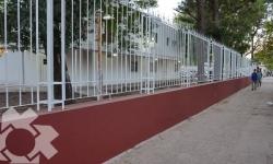 Obra de cierre  perimetral en  la Facultad